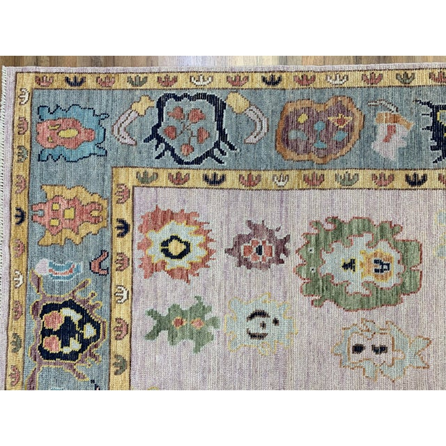 Textile Pink Turkish Oushak Rug- 8'x 10' For Sale - Image 7 of 10