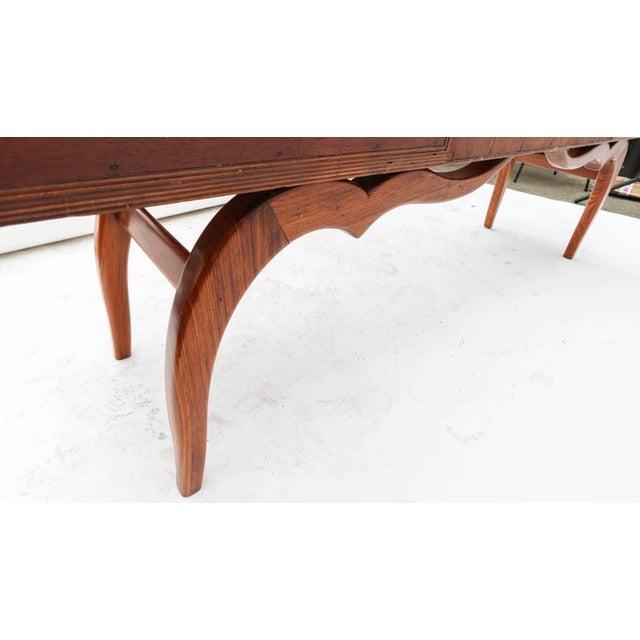 Wood Scapinelli 1960s Brazilian Caviuna Console Table Desk For Sale - Image 7 of 9