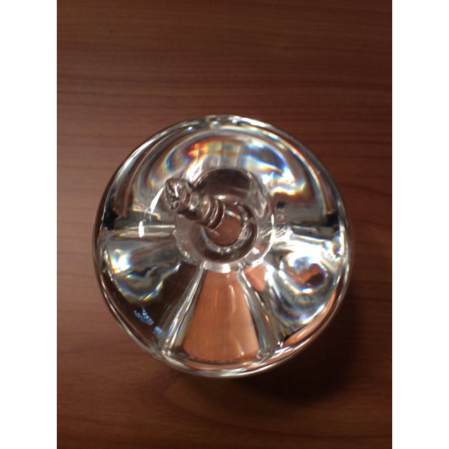Steuben Glass Vintage Steuben Crystal Signed Apple Paperweight For Sale - Image 4 of 7