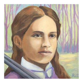 Annie Oakley Oil Painting