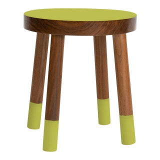 Poco Kids Chair in Walnut With Green Finish For Sale
