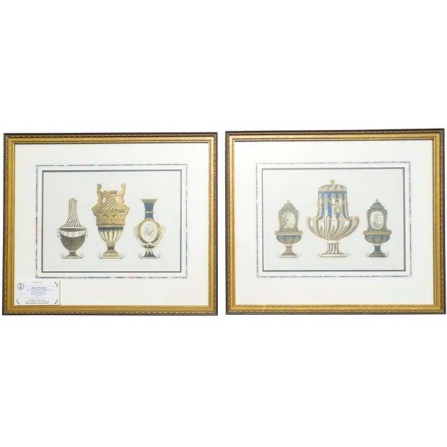 1899 Framed Porcelain Object Prints- A Pair - Image 1 of 10