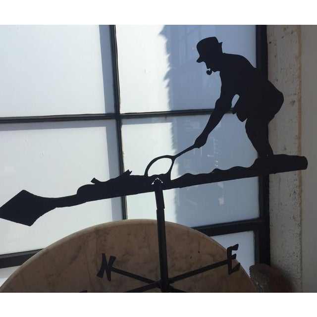 Folk Art Mid 20th Century Fly Fisherman Weathervane For Sale - Image 3 of 5
