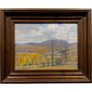 Frank Gervasi -Fall Landscape in Cornwallville n.y. - Beautiful Oil Painting