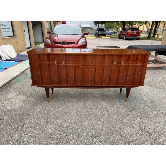 1940s Vintage French Macassar Ebony Sideboard For Sale - Image 11 of 13