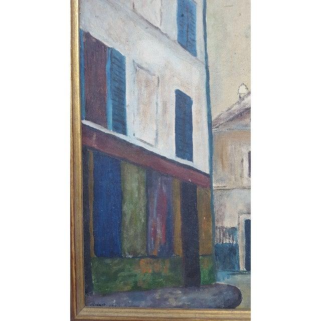 1964 Rodger Moprisk Rural Street Scene Oil Painting - Image 6 of 9