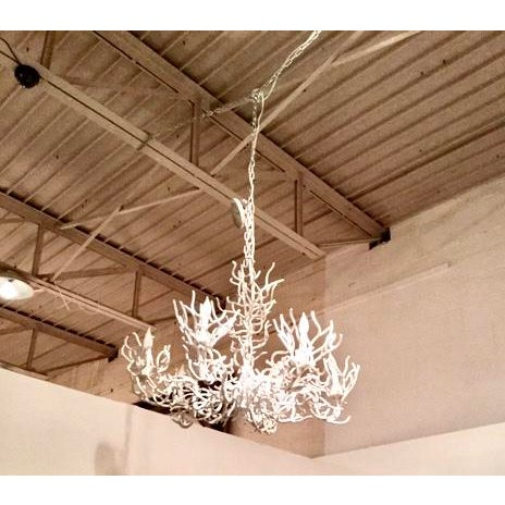 1970s Vintage Iron Coral Chandelier For Sale In Dallas - Image 6 of 6