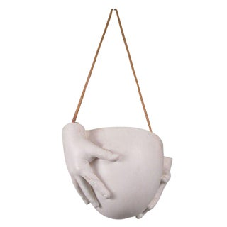 """1970s Ceramic """"Hands"""" Hanging Bowl by Richard Etts For Sale"""