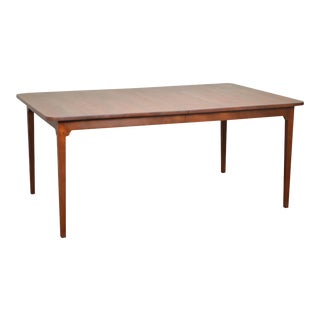 Louis A. Irion III Solid Cherry Wood Bench Made Dining Table w/ Leaves