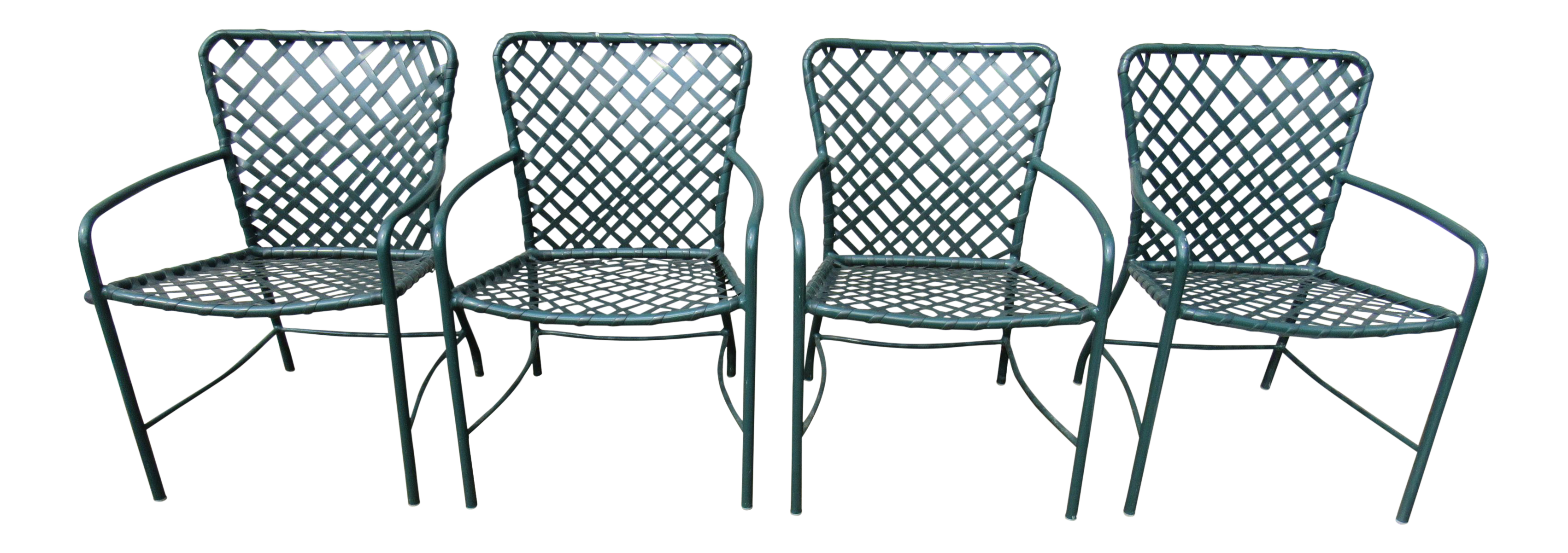 Charmant Vintage Brown Jordan Mid Century Green Tamiami Outdoor Chairs   Set Of 4