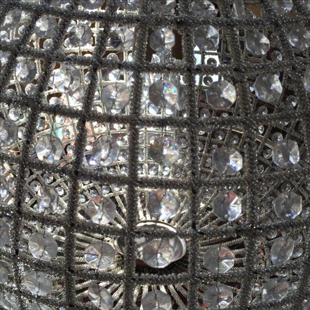 Large Crystal Sphere Chandelier For Sale - Image 5 of 6