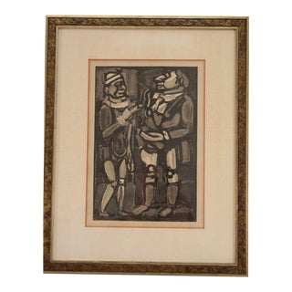 Vintage Mid-Century Modern Georges Rouault (1871-1958) Unsigned Lithograph 1952 For Sale