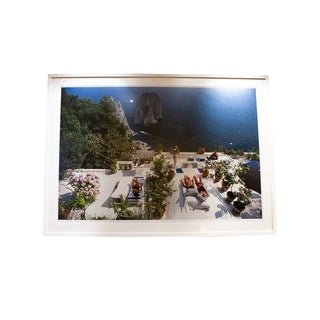 Slim Aarons Il Canille Framed Photographic Print For Sale