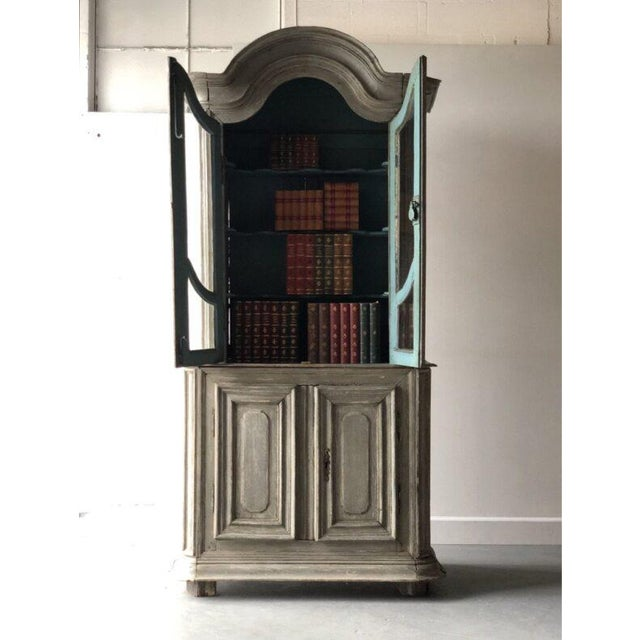 French French Painted Two Part Cabinet For Sale - Image 3 of 9