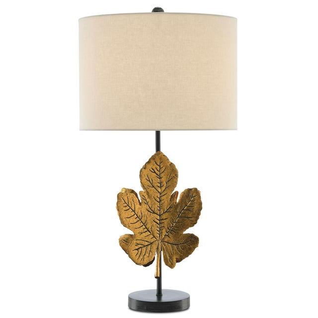 Marjorie Skouras designed the Figuier Wall Sconce with its back-to-back leaves made of cast aluminum in an antique brass...