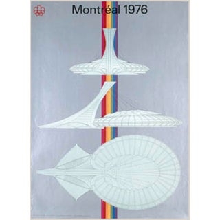 Vintage 1976 Montreal Olympic Stadium Poster