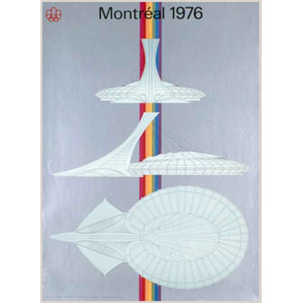 Vintage 1976 Montreal Olympic Stadium Poster For Sale