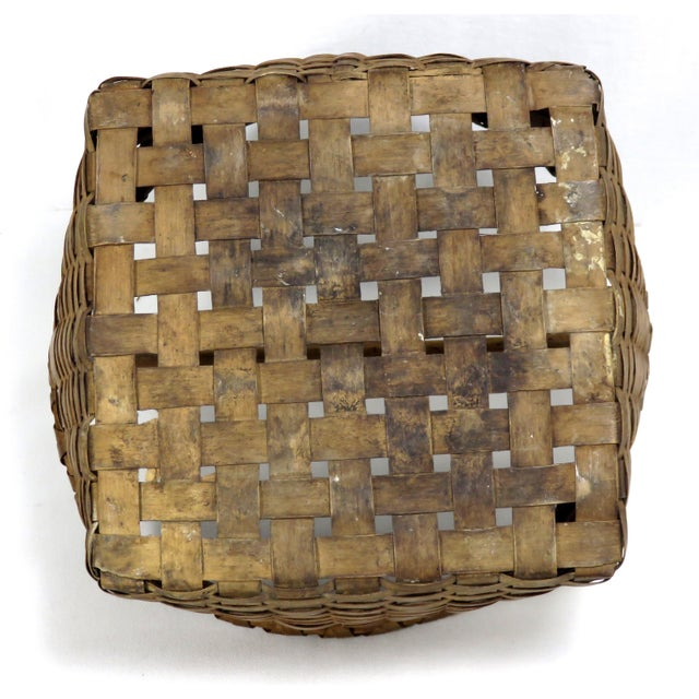 20th Century Rustic Maine Woven Basket For Sale - Image 10 of 13