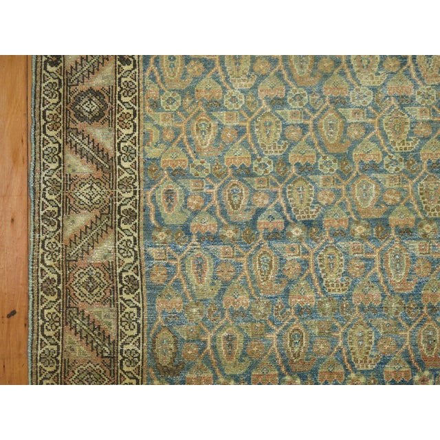Antique Persian Malayer Runner, 3'4'' X 20'2'' For Sale - Image 9 of 11
