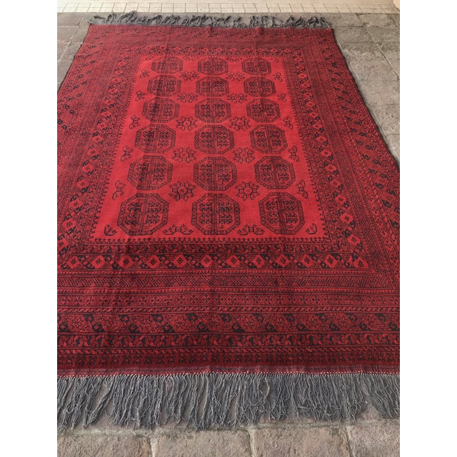 Traditional Vintage Hand-Knotted Wool Rug- 6′7″ × 10′7″ For Sale - Image 3 of 13