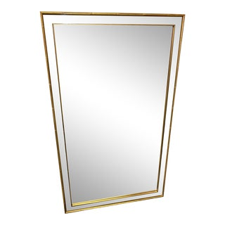 Vintage Mirror With Gold Faux Bamboo Frame For Sale