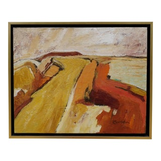 """Laurie MacMillan """"Silence"""" Abstract Landscape For Sale"""