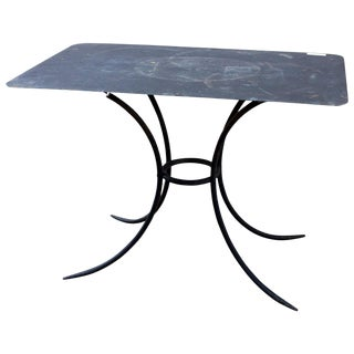 1910s Antique French Metal Garden Table For Sale