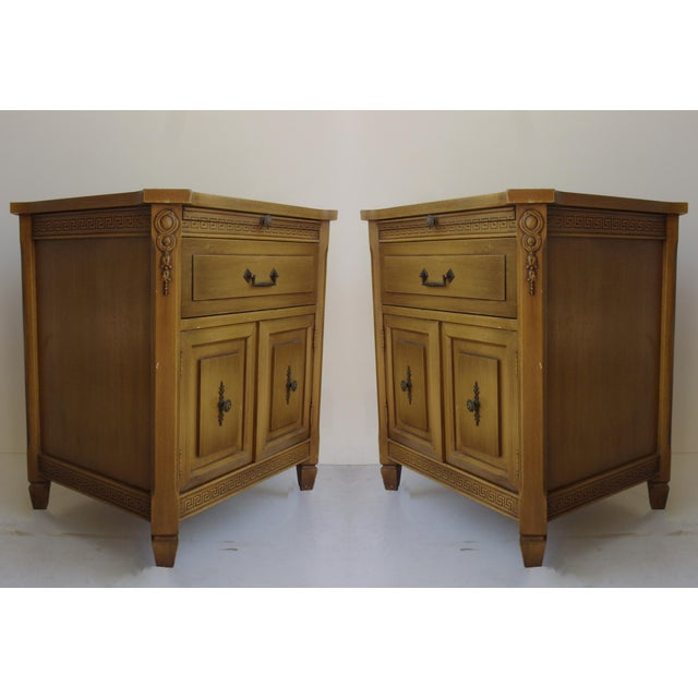 Midcentury Modern Walnut Nightstands - A Pair - Image 3 of 6