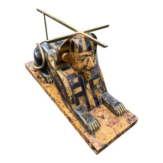 Anthony Redmile Brass and Tortoise Sphinx Coffee Table For Sale