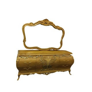 Ornate Dresser With Mirror