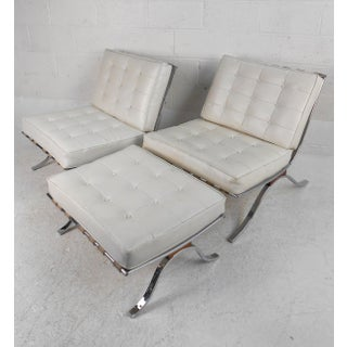 Pair of Vintage Modern Barcelona Style Lounge Chairs by Selig Preview