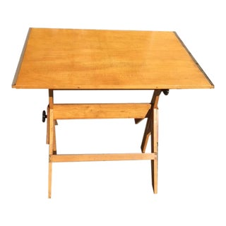 1960s Americana School Drafting Desk For Sale