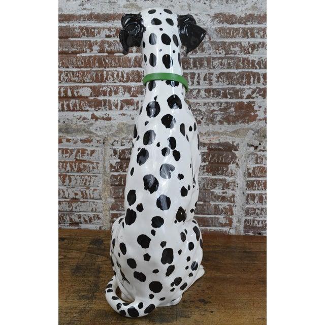 Mid 20th Century Vintage 1960s Ceramic Dalmatian Dog Figure For Sale - Image 5 of 13