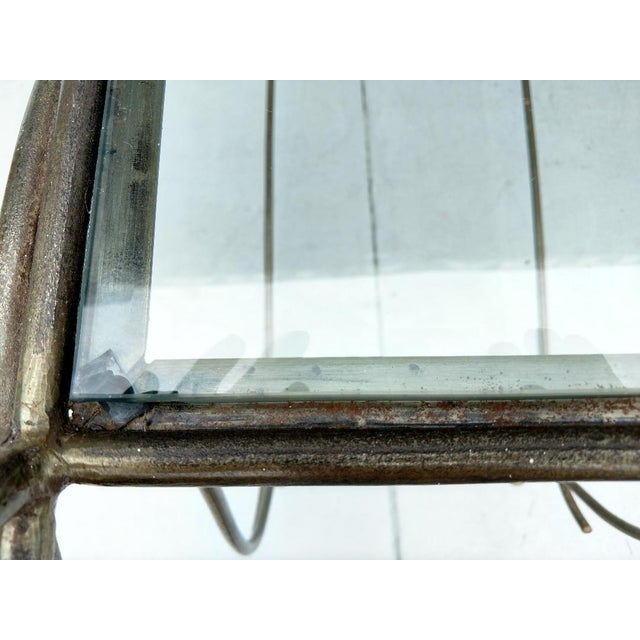 Wrought Iron and Glass Console Table, Vintage For Sale - Image 11 of 13