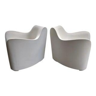 Minimalist Tokujin Yoshioka Outdoor Lounge Chairs, a Pair For Sale