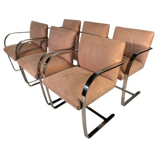 6 Mies Van Der Rohe Cantilever Brno Dining Chairs, Circa 1970 For Sale