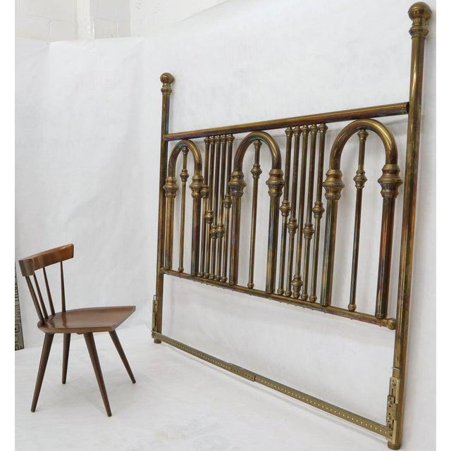 King Size Large Brass Headboard For Sale - Image 10 of 12