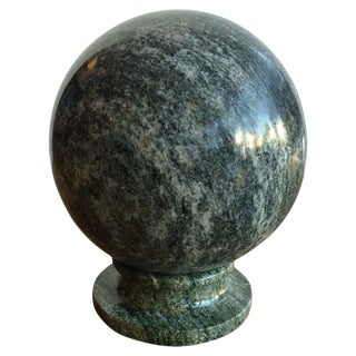 Marble Sphere With Stand For Sale