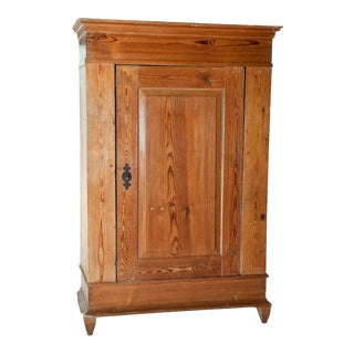 Antique French Hand Pegged Pine Armoire For Sale