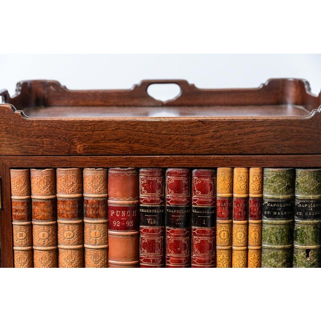 English English Style Faux Book Front Mahogany Nightstands - a Pair For Sale - Image 3 of 8