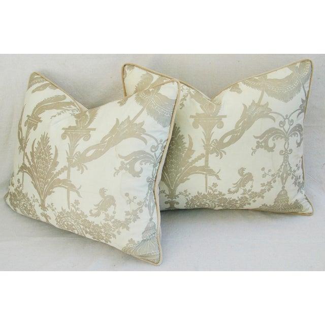 Designer Italian Fortuny Lamballe Pillows - Pair - Image 10 of 11