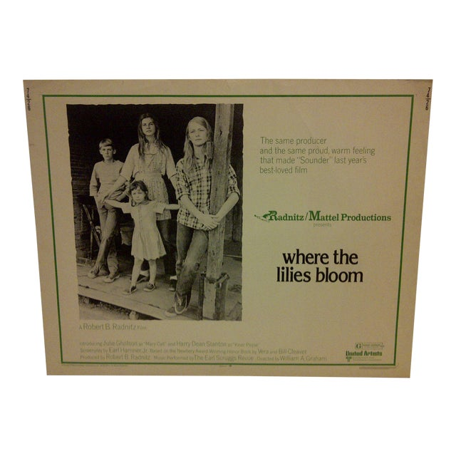 """""""Where the Lilies Bloom"""" 1974 Vintage Movie Poster For Sale"""