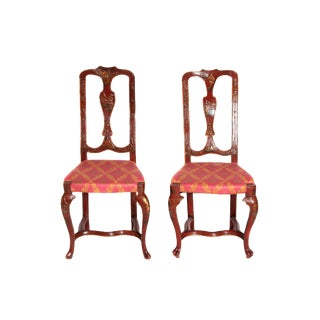 Pair of English Side Chairs For Sale