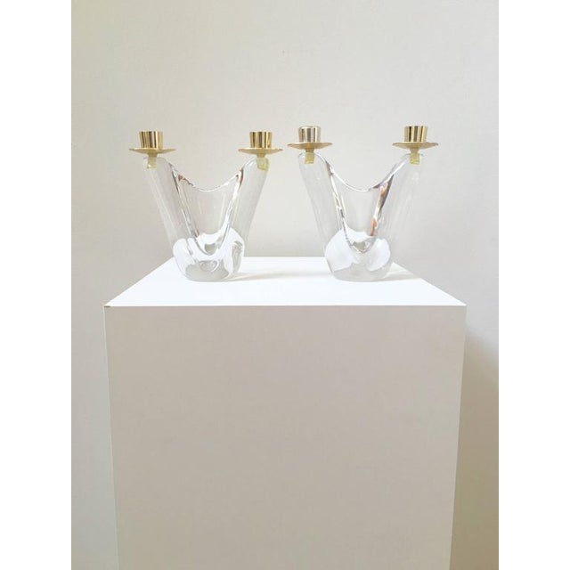 Schneider French Crystal Candlesticks - A Pair - Image 3 of 9