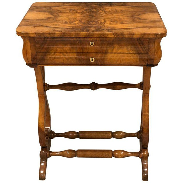 Walnut 1820s Biedermeier Sewing Table For Sale - Image 7 of 7