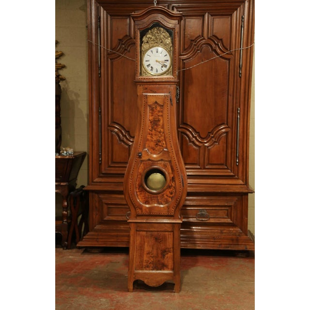 Place this elegant, antique grand father clock in your entry or your den. Crafted in Lyon, France, circa 1780, the...
