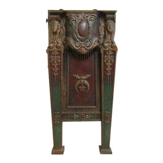 Victorian Mason Masonic Architectural Salvage Cast Iron Theater Seat For Sale