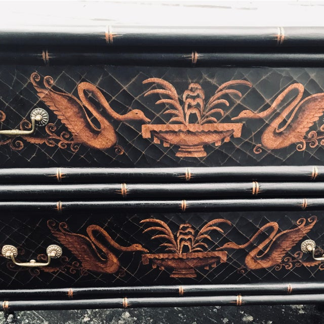 Asian 1990s Chinoiserie Side Chests - a Pair For Sale - Image 3 of 12