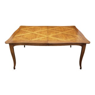 Vintage 1970's Baker Furniture Extendable Dining Table For Sale