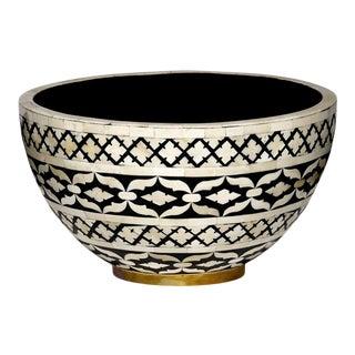 Casa Cosima Maison Decorative Bowl Large in Black & White For Sale